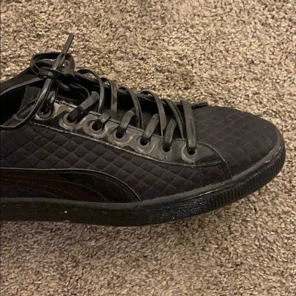 Puma Shoes | All Black Shiny Sneakers